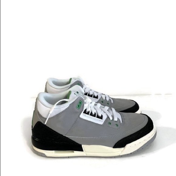 36194c67cb4 Jordan Shoes | Nike Air Retro 3 Gs Light Greychlorophyll | Poshmark